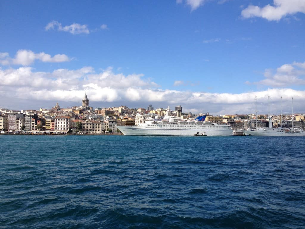Ferry View of European Istanbul