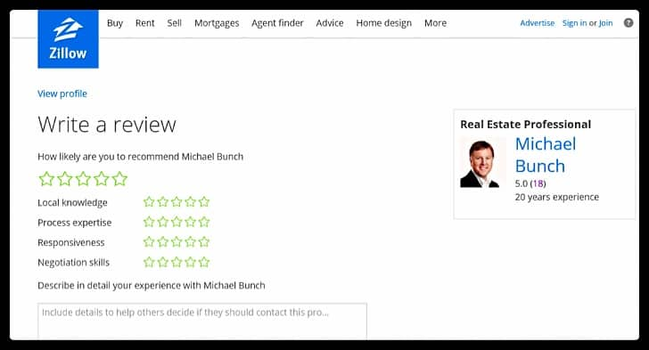 Review Us on Zillow